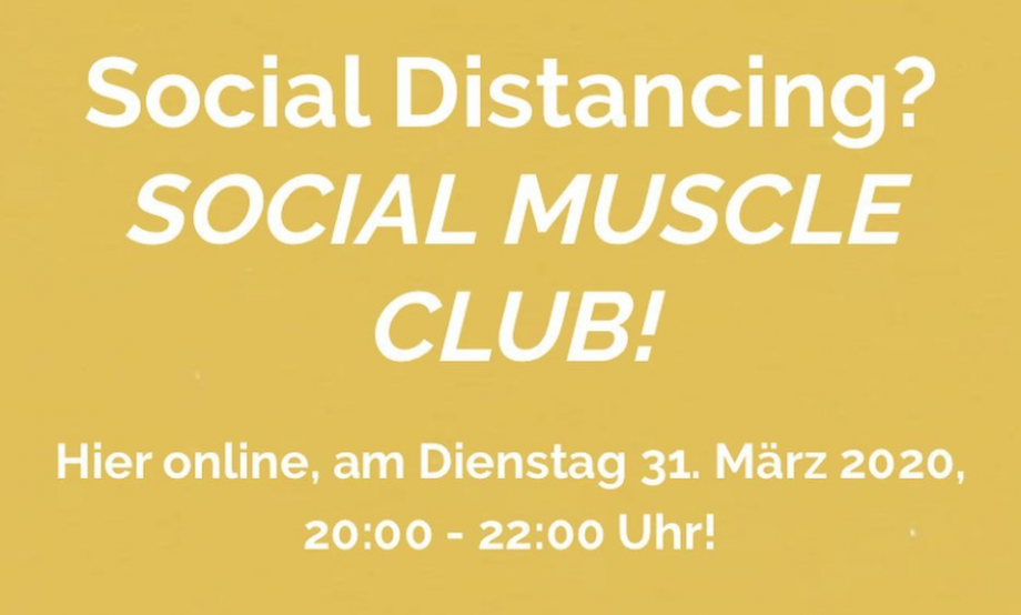 Social distancing? Social Muscle Club!